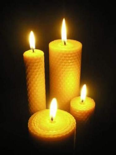 beewax rolled candles
